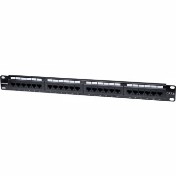 Intellinet Cat6 UTP 24-Port Patch Panel, 1U