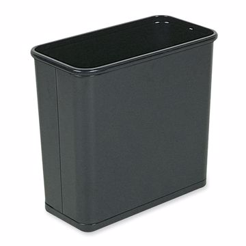United Receptacle Fire-Safe Rectangle Wastebasket