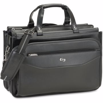 Solo Carrying Case (Briefcase) for 16 Notebook, Business Card, Accessories, Pen, File Folder - Black