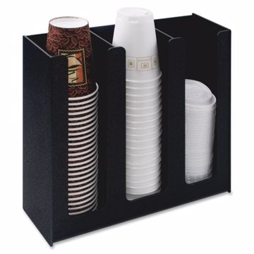 Vertiflex 3-column Cup and Lid Holder Organizer