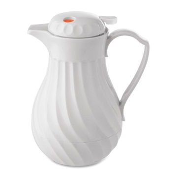 Hormel Connoisserve Insulated White Swirl Carafe