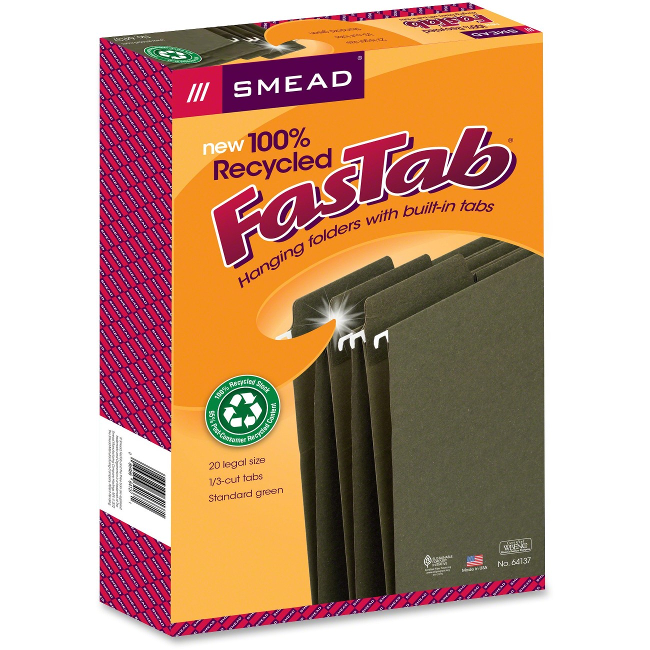 Smead 100% Recycled FasTab® Hanging