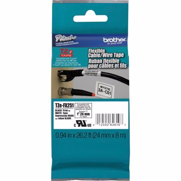 Brother 1 Black on White Flexible ID Tape