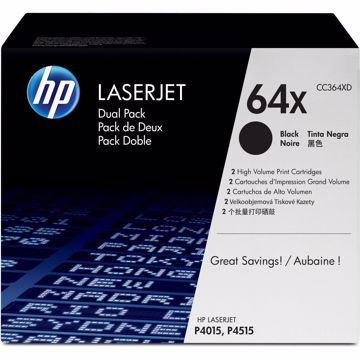 HP 64X Original Toner Cartridge - Dual Pack
