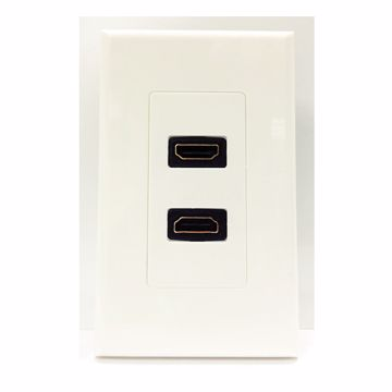 4XEM 4XWALLHDMI2 White outlet box