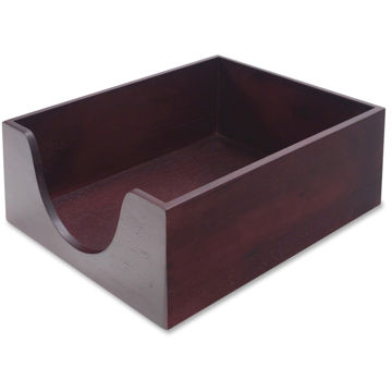 Carver Double Deep Wood Desktop Tray