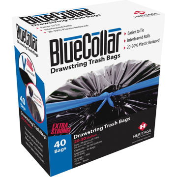 BlueCollar Super Tough 13 Gal Trash Bags