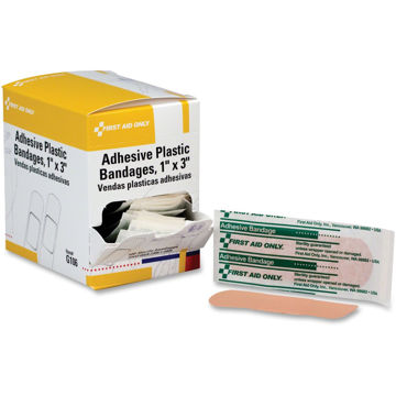 First Aid Only 1x3 Plastic Adhesive Bandages