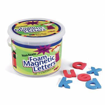 (Lowercase Letters) Shape - Magnetic - Non-toxic - Letter Height 1.5 - Blue Consonants - Red Vowels - Assorted - Foam - 108  Set
