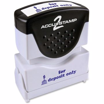 COSCO 1-Color Blue Shutter Stamp with Microban