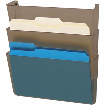 deflecto 3-Pocket DocuPocket Letter Wall File