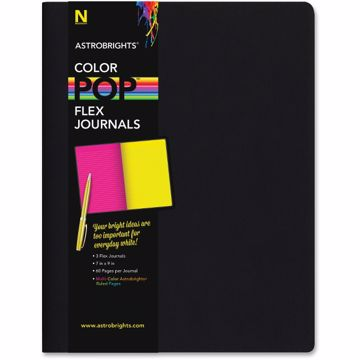 Astrobrights Flex Journals with Eclipse Black Cover