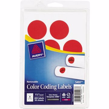 Avery 1-14 Round Color Coding Labels