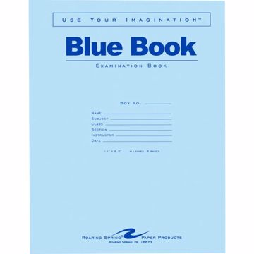 Roaring Spring 8 - sheet Blue Examination Book - Letter