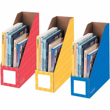 Bankers Box 4 Magazine File Holders - Primary, 3pk