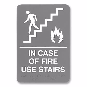 HeadLine ADA Plastic Fire Use Stairs Sign