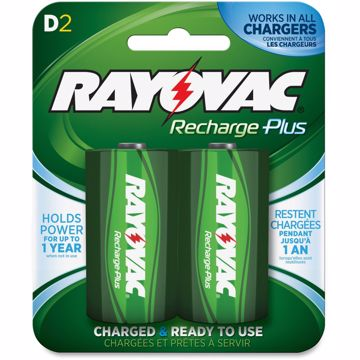 Rayovac Recharge Plus D Batteries