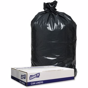 Genuine Joe 1.2mil Black Trash Can Liners